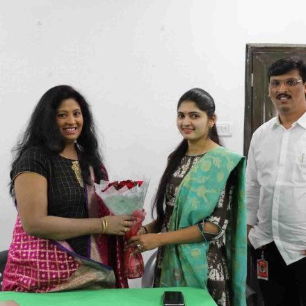 Actress Sumana Sri Garu At Best Acting Institute in Hyderabad, FTIH Film School
