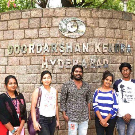 FTIH Students Field Trip To Doordarshan Yadagiri Studio, Hyderabad