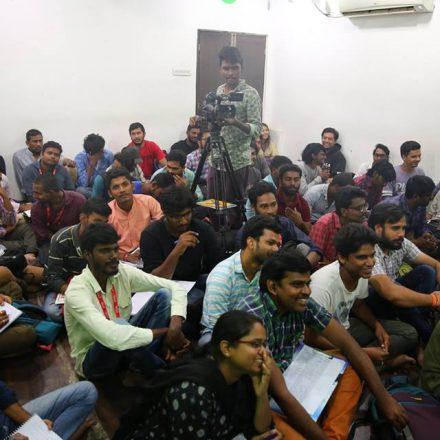 Workshop on Cinematography and Film making By MV Raghu garu Day 2 @ FTIH Film School