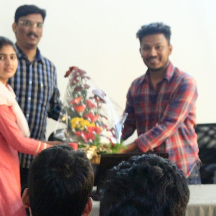 """Hollywood movie director, VFX artist """"Naveen Medaram"""" sharing his experiences with FTIH students"""