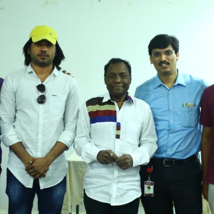 Actor Comedian Gundu Hanumanthurao interaction with FTIH students