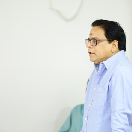 Telugu senior Actor, comedian ANANTH BABU discusses with FTIH students
