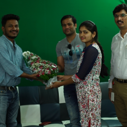 """ Babu Baga Busy "" movie team visits FTIH Film School"