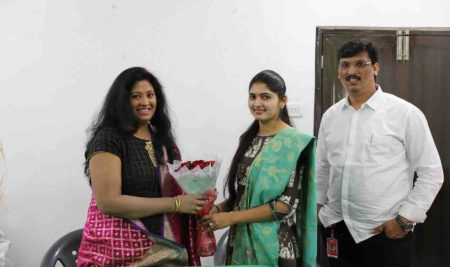 Actress Sumana Sri Garu At Best Acting Institute in Hyderabad, FTIH Film School