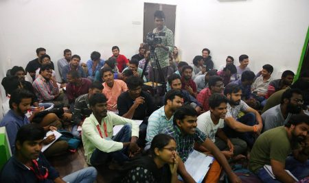 Workshop on Cinematography and Film making By MV Raghu garu Day 2 @ FTIH Film School