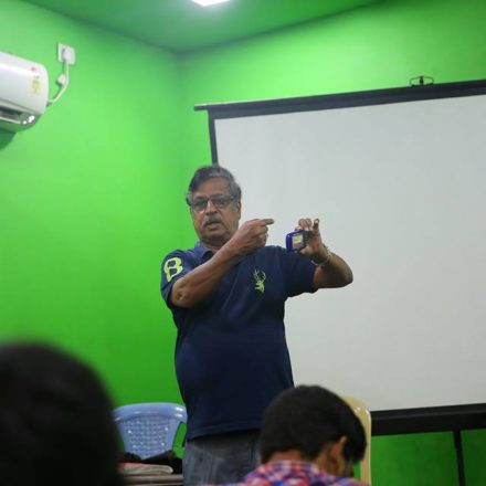 Workshop on Cinematography and Filmmaking By MV Raghu garu @ FTIH Film School