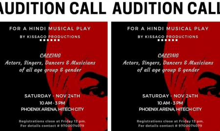 Audition Call for a Hindi Musical Play