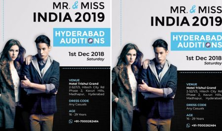 Mr and Miss India 2019 – Hyderabad Auditions
