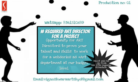 Requirement Art Director for a Project